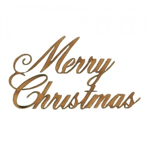 Merry Christmas - Wood Words in Ancestry Font