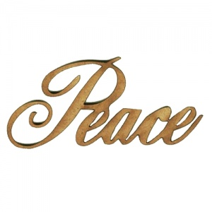 Peace - Wood Word in Ancestry Font