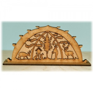 3D Winter Forest MDF Wood Scene