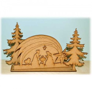 3D Christmas Nativity MDF Wood Scene