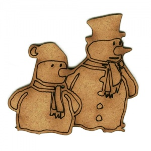 Snowman Pals - MDF Wood Shape
