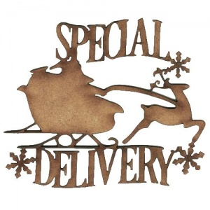 Special Delivery - Decorative MDF Wood Words