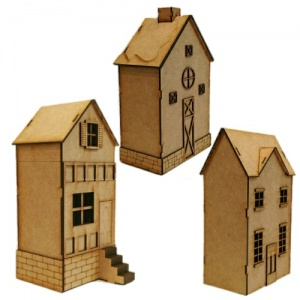 Set of 3 Townhouses inc. Base & Accessories