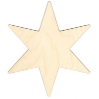 6 Pointed Star Birch Ply Wood Plaque
