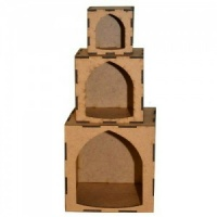 Artist Trading Block Stack Kit - Set of 3 Arch Aperture Cubes
