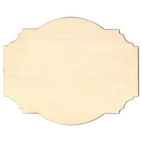 Fancy Birch Ply Wood Plaque Style 1