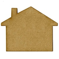 House Shape - MDF Mixed Media Board