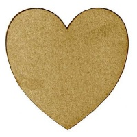 Standard Heart Shape - MDF Mixed Media Board