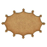 Trefoil Border Shape - MDF Mixed Media Board