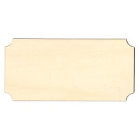 Notched Rectangle Birch Ply Wood Plaque