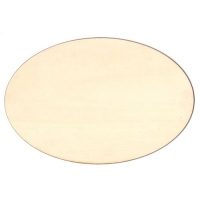 Oval Birch Ply Wood Plaque