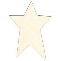 Primitive Star Birch Ply Wood Plaque