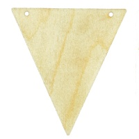 Birch Ply Triangle Shape Bunting