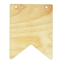 Birch Ply Ribbon Shape Bunting