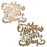 Christmas Season - Decorative MDF & Birch Ply Wood Words - LARGE