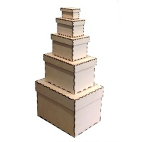 Birch Plywood Box Stack Kits - Rectangle