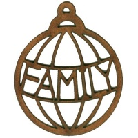 Family  - Christmas Word MDF Bauble