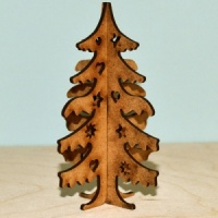 3D Christmas Tree MDF Wood Kit - Style 2