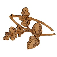 Oak Leaves with Acorns MDF Wood Shape - Style 1
