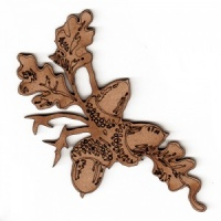 Oak Leaves with Acorns MDF Wood Shape - Style 2