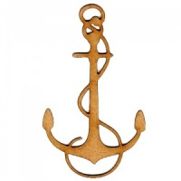 Anchor & Rope Silhouette - MDF Wood Shape