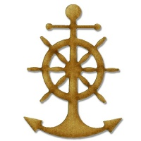 Anchor & Ships Wheel MDF Wood Shape Style 3