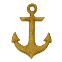 Anchor Silhouette - MDF Wood Shape