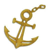 Anchor & Chain MDF Wood Shape Style 5
