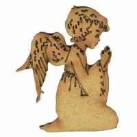 Angel Praying - MDF Wood Shape