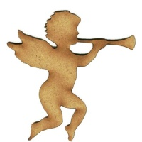 Angel with Bugle - MDF Wood Shape