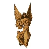 Vintage Angel with Wreath - MDF Wood Shape