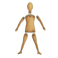 Child Style Jointed Art Doll Kit