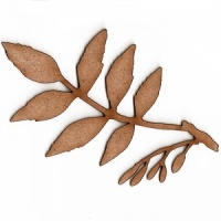 Ash Leaf and Twig MDF Wood Shape