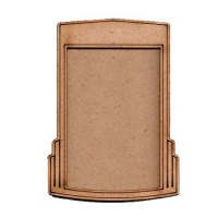 Shaped ATC Wood Blank with Art Deco Frame