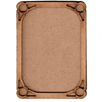 Shaped ATC Wood Blank with Circle Cut Out Frame