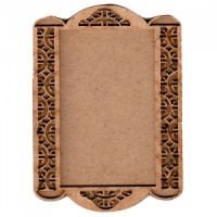 Shaped ATC Wood Blank with Fancy Cut Out Frame