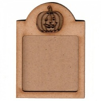 Shaped ATC Wood Blank with Pumpkin Frame