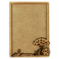 Plain ATC Wood Blank with Woodland Fungi Frame