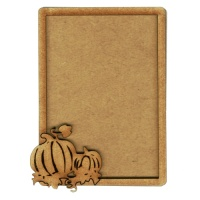Plain ATC Wood Blank with Autumn Pumpkins Frame