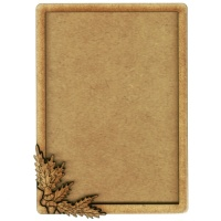 Plain ATC Wood Blank with Acorns & Oak Leaves Frame