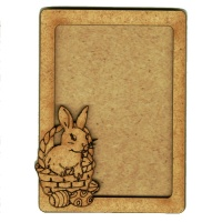 Plain ATC Wood Blank with Easter Bunny & Basket Frame