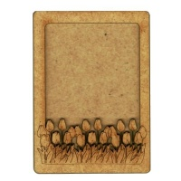Plain ATC Wood Blank with Field of Tulips Frame
