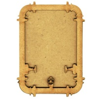 Plain ATC Wood Blank with Steampipe Border Frame
