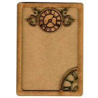 Plain ATC Wood Blank with Clock Face Frame