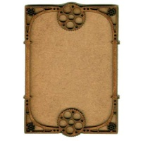 Plain ATC Wood Blank with Deco Cogs Frame