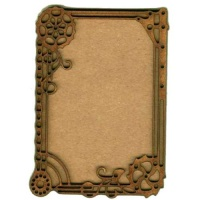 Plain ATC Wood Blank with Clockworks & Flourish Frame