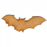 Flying Bat Silhouette - MDF Wood Shape Style 1