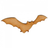Flying Bat Silhouette - MDF Wood Shape Style 2