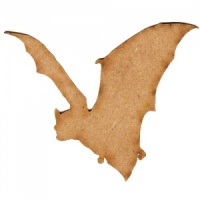 Flying Bat Silhouette - MDF Wood Shape Style 3