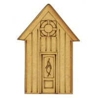 Beach Hut with Life Buoy - MDF Wood Shape